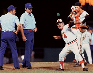 Earl Weaver respectfully disagrees with Big Blue